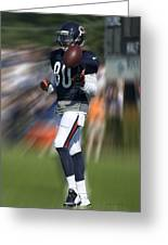 Chicago Bears Wr Armanti Edwards Moving The Ball Training Camp 2014 Greeting Card