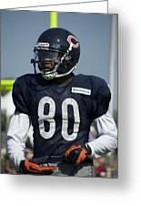 Chicago Bears Wr Armanti Edwards Training Camp 2014 01 Greeting Card