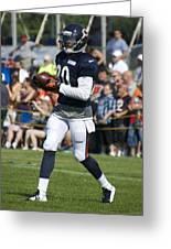 Chicago Bears Wr Armanti Edwards Training Camp 2014 07 Greeting Card