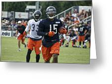 Chicago Bears Wr Brandon Marshall Training Camp 2014 06 Greeting Card