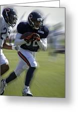 Chicago Bears Wr Chris Williams Moving The Ball Training Camp 2014 Greeting Card