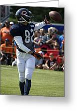Chicago Bears Wr Chris Williams Training Camp 2014 04 Greeting Card