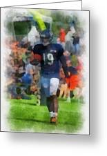 Chicago Bears Wr Josh Morgan Training Camp 2014 Pa 01 Greeting Card
