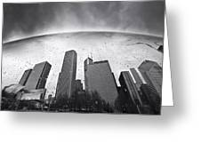 Chicago Black And White Photography Greeting Card by Dapixara Art