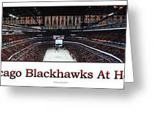 Chicago Blackhawks At Home Panorama White Greeting Card