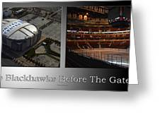 Chicago Blackhawks Before The Gates Open Interior 2 Panel Sb Greeting Card