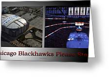 Chicago Blackhawks Please Stand 2 Panel Sb Greeting Card