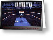 Chicago Blackhawks Please Stand Up With Red Text Sb Greeting Card