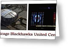 Chicago Blackhawks United Center 2 Panel White Signage Greeting Card