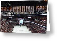 Chicago Blackhawks United Center Panorama 03 Greeting Card