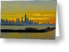 Chicago Breakwater Greeting Card