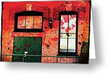 Chicago Brick Facade 21st. Century Greeting Card