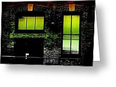 Chicago Brick Facade Glow Greeting Card