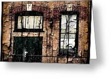 Chicago Brick Facade Grunge Greeting Card