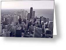 Chicago Bw Greeting Card
