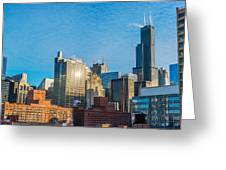 Chicago Cityscape During The Day Greeting Card