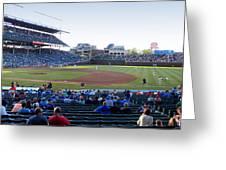 Chicago Cubs Pregame Time Panorama Greeting Card