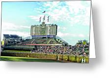 Chicago Cubs Scoreboard 01 Greeting Card