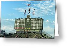 Chicago Cubs Scoreboard 02 Greeting Card