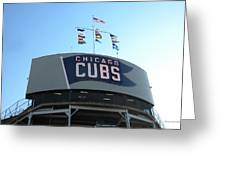 Chicago Cubs Signage Greeting Card