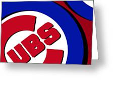 Chicago Cubs Football Greeting Card