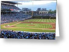 Chicago Cubs Up To Bat Greeting Card
