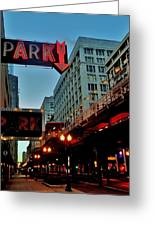 Chicago Dawn Stroll Greeting Card