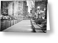 Chicago Downtown City Riverwalk Greeting Card