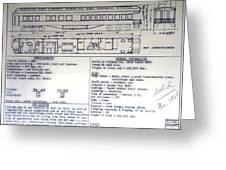 Chicago Eastern Il Rr Business Car Blue Print Greeting Card