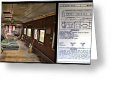 Chicago Eastern Il Rr Business Car Restoration With Blue Print Greeting Card