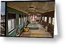 Chicago Eastern Il Rr Car Restoration With Blue Print Greeting Card