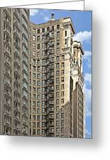 Chicago - Emergency Fire Escape Greeting Card by Christine Till