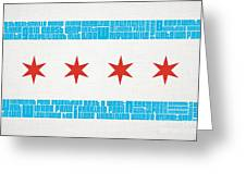 Chicago Flag Neighborhoods Greeting Card by Mike Maher
