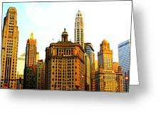 Chicago Glow Greeting Card