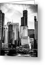 Chicago High Resolution Picture In Black And White Greeting Card by Paul Velgos
