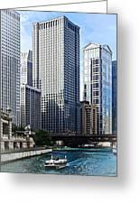 Chicago Il - Chicago River Near Wabash Ave. Bridge Greeting Card