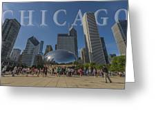 Chicago Illinois Bean Letters Greeting Card