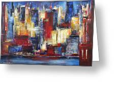 Chicago In The Evening Greeting Card