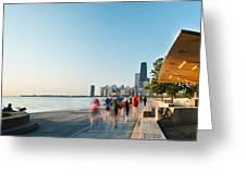 Chicago Lakefront Panorama Greeting Card