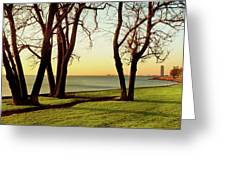 Chicago Lakefront Trail And Lincoln Greeting Card