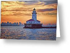Chicago Lighthouse Impression Greeting Card