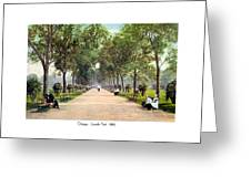 Chicago - Lincoln Park - 1910 Greeting Card