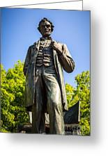 Chicago Lincoln Standing Statue Named The Man Greeting Card