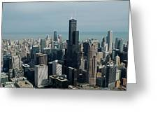 Chicago Looking East 04 Greeting Card