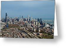 Chicago Looking North 01 Greeting Card