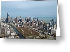 Chicago Looking North 02 Greeting Card
