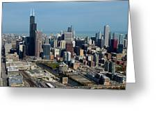 Chicago Looking North 03 Greeting Card