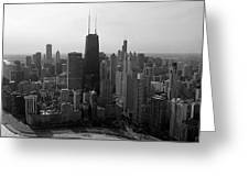 Chicago Looking South 01 Black And White Greeting Card