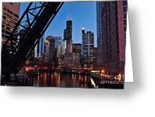 Chicago Loop Greeting Card by Jeff Lewis