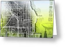 Chicago Map Gradient Greeting Card